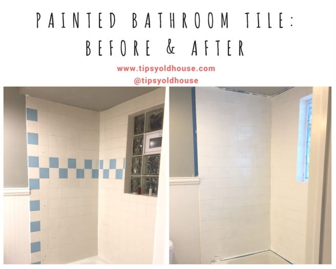 Painting Bathroom Tile Before After Tipsy Old House - Painting bathroom tile before and after